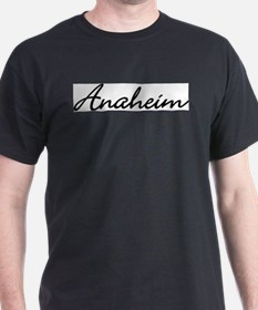 Anaheim, California Black T-Shirt