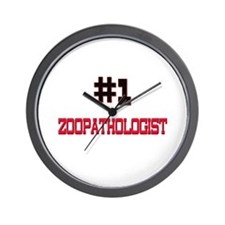 Number 1 ZOOPATHOLOGIST Wall Clock