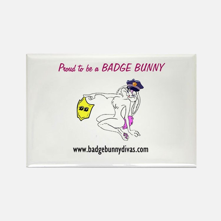 badge bunny Rectangle Magnet