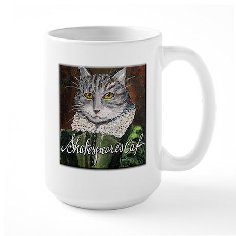 Shakespeare's Cat Large Mug