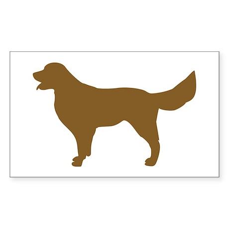 Golden Retriever - Dog Rectangle Sticker