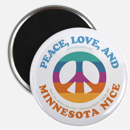 Peace, Love and MN Nice Magnet