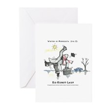 Winter in MN Fig. 2 Greeting Cards (Pk of 10)