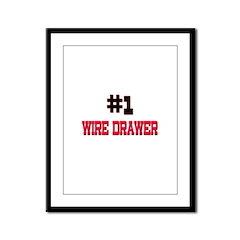 Number 1 WIRE DRAWER Framed Panel Print