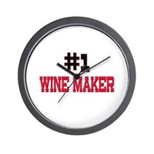 Number 1 WINE MAKER Wall Clock