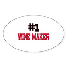Number 1 WINE MAKER Oval Decal