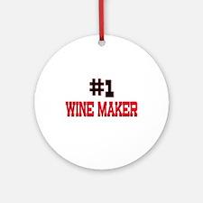 Number 1 WINE MAKER Ornament (Round)