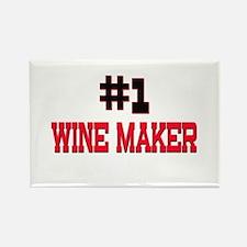 Number 1 WINE MAKER Rectangle Magnet