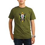 Tribal Cow Skull Organic Men's T-Shirt (dark)