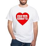 GR8LUVR White T-Shirt