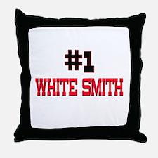 Number 1 WHITE SMITH Throw Pillow