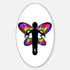 Autistic Butterfly Oval Decal