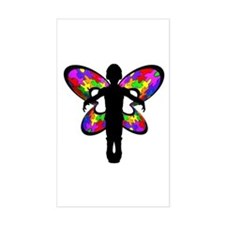 Autistic Butterfly Rectangle Bumper Stickers