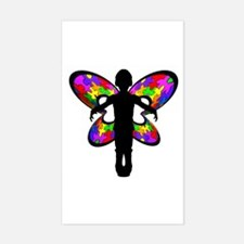 Autistic Butterfly Rectangle Decal