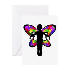 Autistic Butterfly Greeting Card