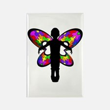 Autistic Butterfly Rectangle Magnet (10 pack)