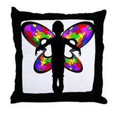 Autistic Butterfly Throw Pillow