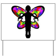 Autistic Butterfly Yard Sign