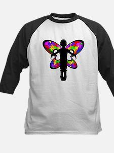 Autistic Butterfly Kids Baseball Jersey