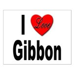 I Love Gibbon Small Poster