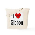 I Love Gibbon Tote Bag