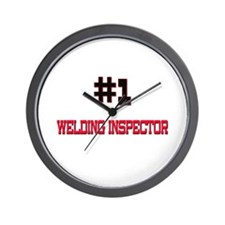 Number 1 WELDING INSPECTOR Wall Clock