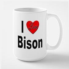 I Love Bison Large Mug