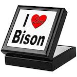I Love Bison Keepsake Box