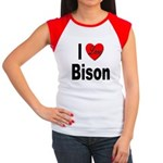 I Love Bison Women's Cap Sleeve T-Shirt