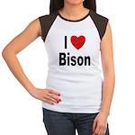 I Love Bison (Front) Women's Cap Sleeve T-Shirt