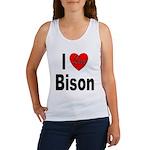 I Love Bison Women's Tank Top