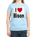 I Love Bison Women's Pink T-Shirt