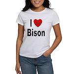 I Love Bison (Front) Women's T-Shirt