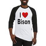I Love Bison Baseball Jersey