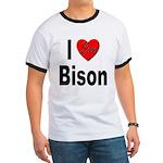 I Love Bison (Front) Ringer T