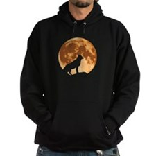 Wolf with Moon Hoodie