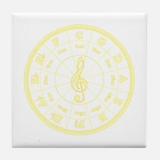 Yellow Circle of Fifths Tile Coaster