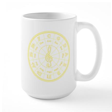 Yellow Circle of Fifths Large Mug
