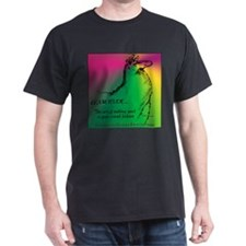 Llamatude Radial Black T-Shirt