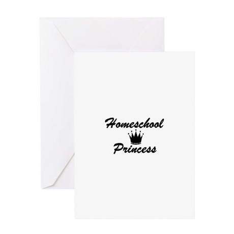 Homeschool Princess Greeting Card