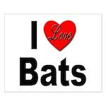 I Love Bats Small Poster