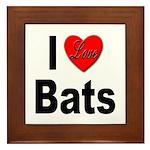 I Love Bats Framed Tile