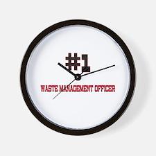 Number 1 WASTE MANAGEMENT OFFICER Wall Clock