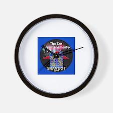 Shavuot Ten Laws Wall Clock