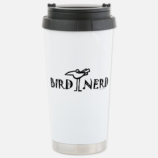Birding, Ornithology Stainless Steel Travel Mug