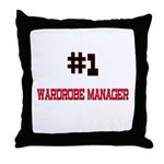 Number 1 WARDROBE MANAGER Throw Pillow