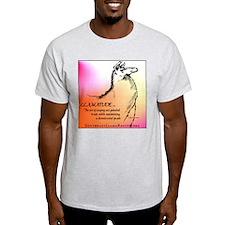 Llamatude Graph Ash Grey T-Shirt