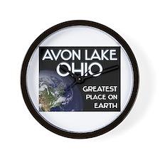 avon lake ohio - greatest place on earth Wall Cloc