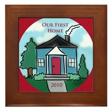 """Our First Home"" 2010 Framed Tile"