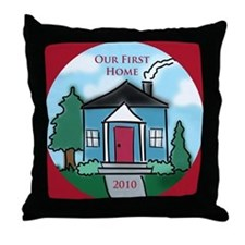 """Our First Home"" 2010 Throw Pillow"